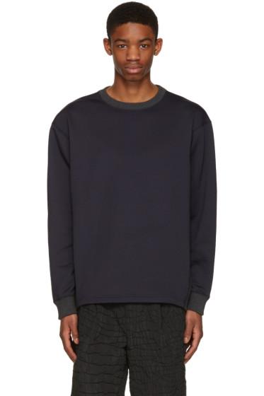 Kolor - Navy Contrast Collar Pullover