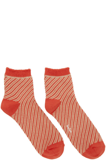 Kolor - Orange Striped Socks