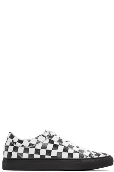 Facetasm - Black & White Checkered Sneakers