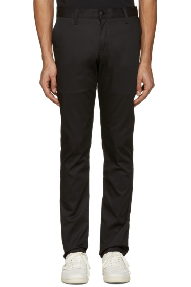 Naked & Famous Denim - Black Slim Chino Trousers