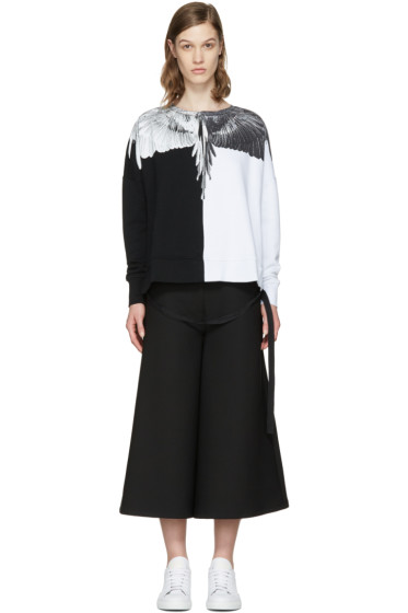 Marcelo Burlon County of Milan - Black & White Aike Poncho Pullover