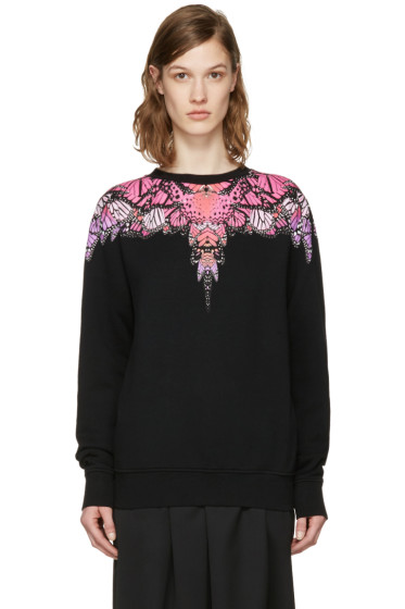 Marcelo Burlon County of Milan - SSENSE Exclusive Black Printed Pullover