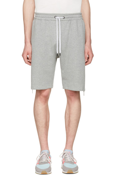 Pyer Moss - Grey Evans Zip Shorts