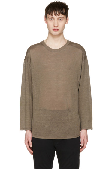 Christian Dada - Taupe Linen Pullover