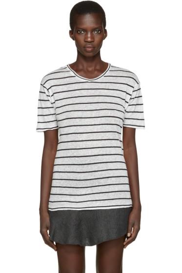 Isabel Marant Etoile - Off-White Striped Andreia T-Shirt