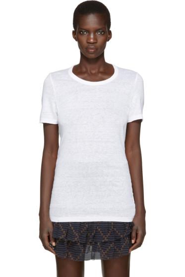 Isabel Marant Etoile - White Linen Kiliann T-Shirt