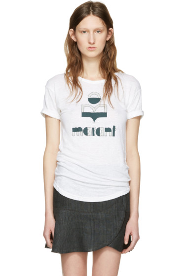 Isabel Marant Etoile - White Kolda Logo T-Shirt