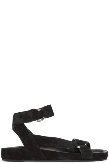 Isabel Marant - Black Suede Loatis Easy Chic Sandals