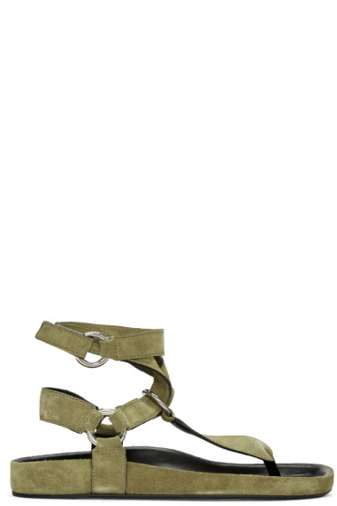 Isabel Marant - Brown Suede Loig Sandals