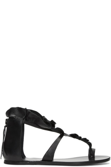 Isabel Marant - Black Audry Ruffle Sandals