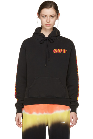 Off-White - Black Rays Over Hoodie