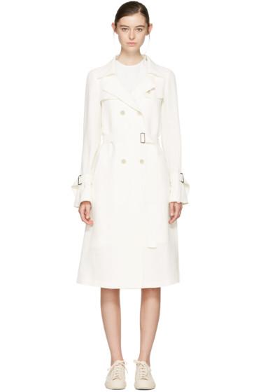 Jil Sander Navy - White Belted Trench Coat
