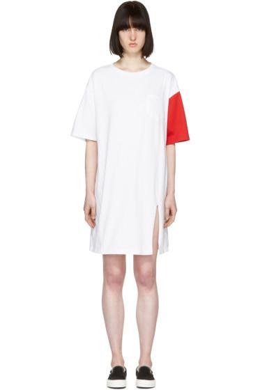 SJYP - White 'California Club' T-Shirt Dress