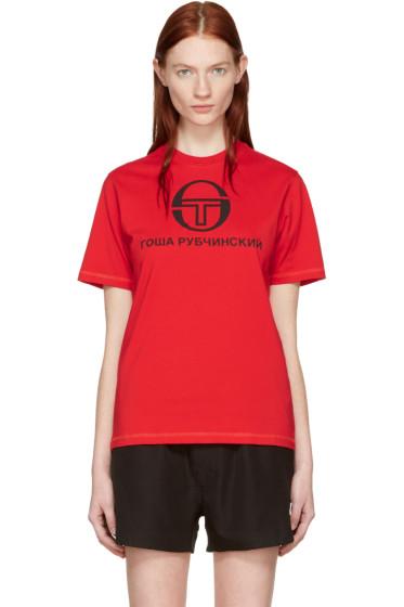 Gosha Rubchinskiy - Red Sergio Tacchini Edition T-Shirt