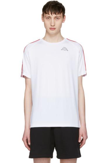 Gosha Rubchinskiy - White Kappa Edition Logo Sleeve T-Shirt