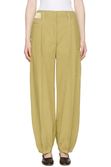 Lemaire - Khaki Workwear Trousers