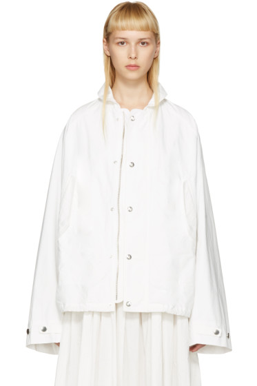 Lemaire - White Raglan Jacket
