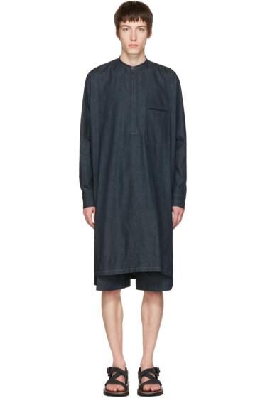 Lemaire - Indigo Long Denim Shirt