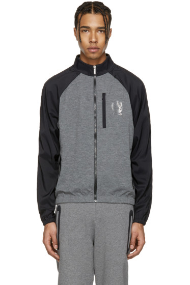 Versace Underwear - Grey & Black Running Zip Jacket