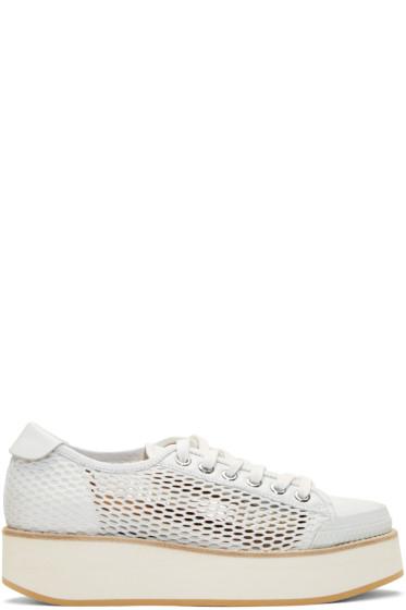 Flamingos - White Mesh Tatum Sneakers