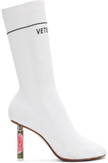 Vetements - White Rose Lighter Sock Boots