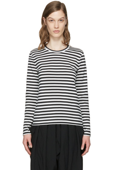 Comme des Garçons Girl - White & Black Striped T-Shirt