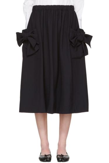 Comme des Garçons Comme des Garçons - Navy Bow Pockets Skirt