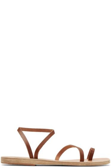 Ancient Greek Sandals - Brown Apli Eleftheria Sandals
