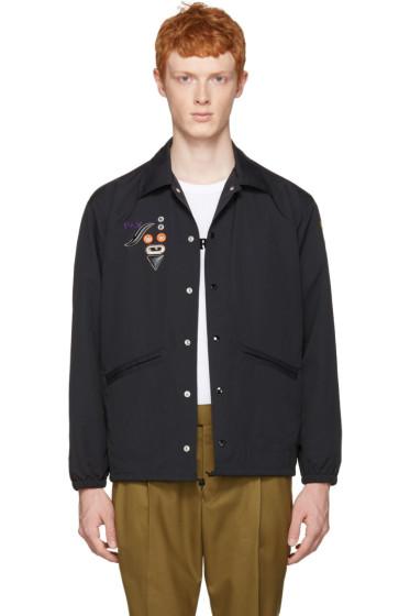Toga Virilis - Black Nylon Embroidered Jacket