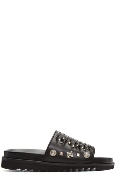 Toga Virilis - Black Leather Sandals