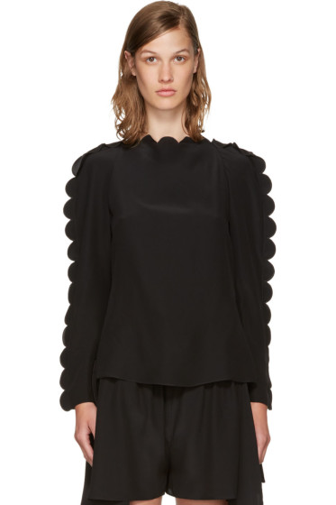 Fendi - Black Scalloped Edge Blouse