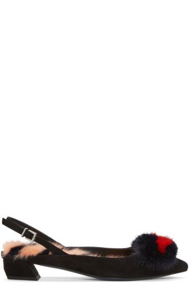 Fendi - Black Hypnoteyes Ballerina Flats