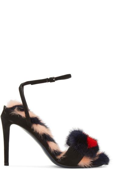 Fendi - Black Hypnoteyes Sandals