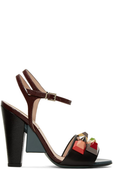 Fendi - Multicolor Rainbow Sandals