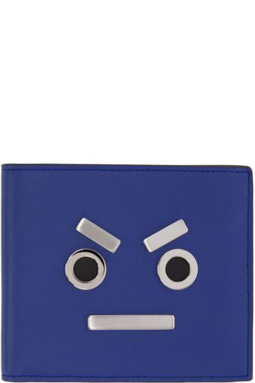 Fendi - Blue 'Fendi Faces' Wallet