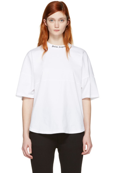 Palm Angels - White Logo Over Fit T-Shirt
