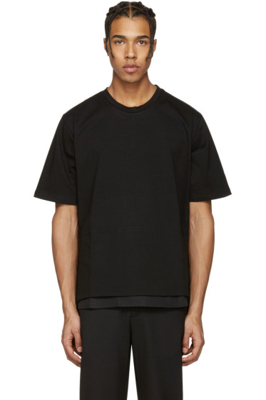 Wooyoungmi - Black Side Snap T-Shirt