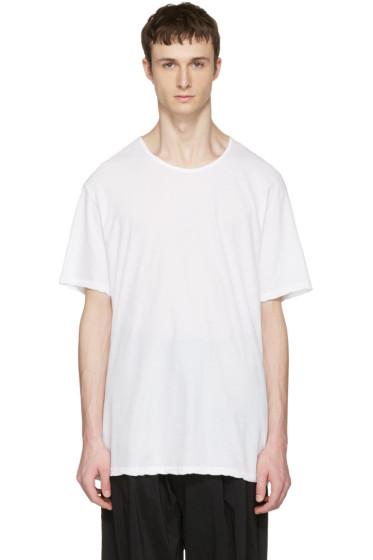 Attachment - White Slight Oversized T-Shirt