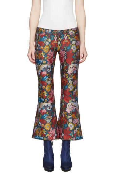 Marques Almeida - Multicolor Jacquard Classic Capri Trousers