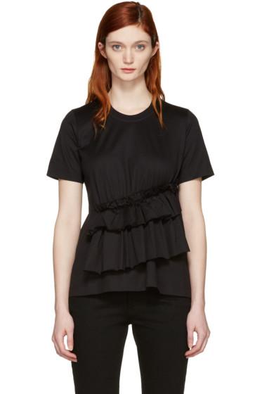 Marques Almeida - Black Gathered T-Shirt