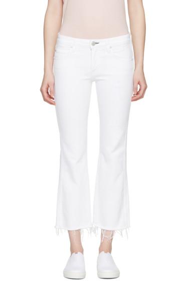 Amo - White Kick Crop Jeans