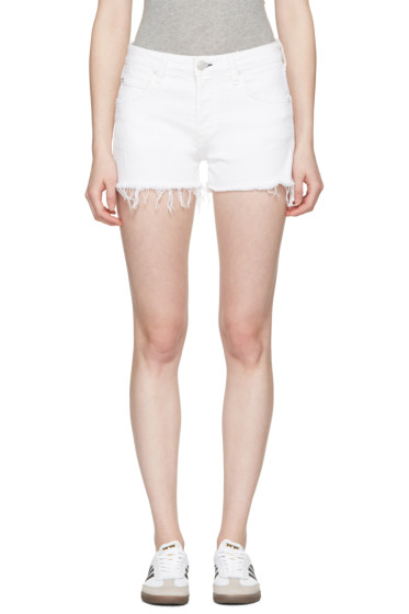 Amo - White Denim Babe Shorts