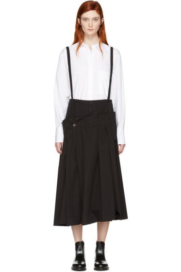 Y's - Black Long Suspender Skirt