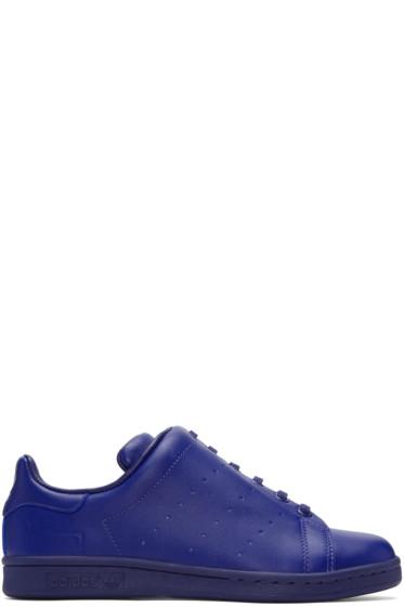 Y's - Blue adidas Originals Edition Diagonal Stan Smith Sneakers