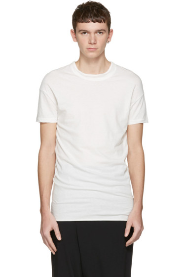 Isabel Benenato - White Double Collar T-Shirt