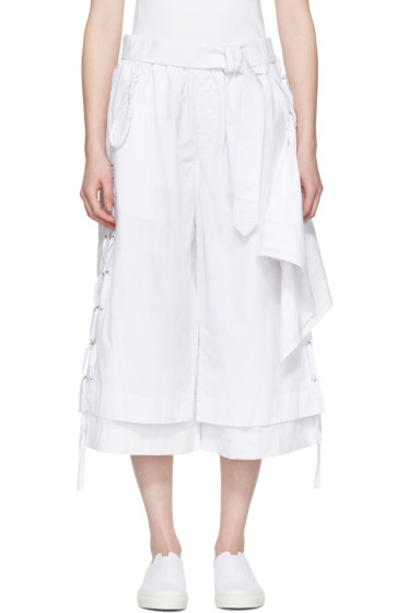 Craig Green - White Cotton Long Layered Shorts