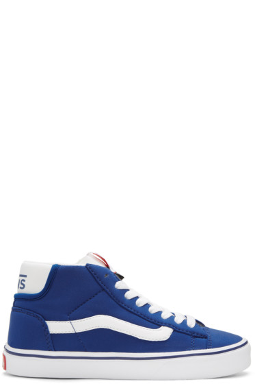Vans - Baskets bleues Mid Skool Lite LX édition Shoeller
