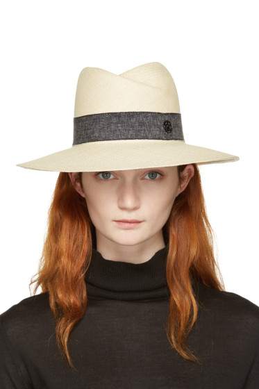 Maison Michel - Beige Straw Virginie Panama Hat