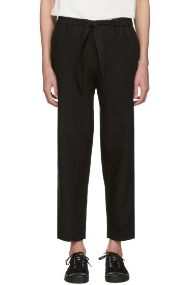 Tomorrowland - Black Linen Easy Trousers