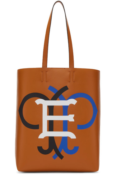Emilio Pucci - Tan Leather Logo Tote